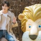 "Kim Jae Wook Strikes An Awkward Smile While Posing With A Lion For ""Her Private Life"""