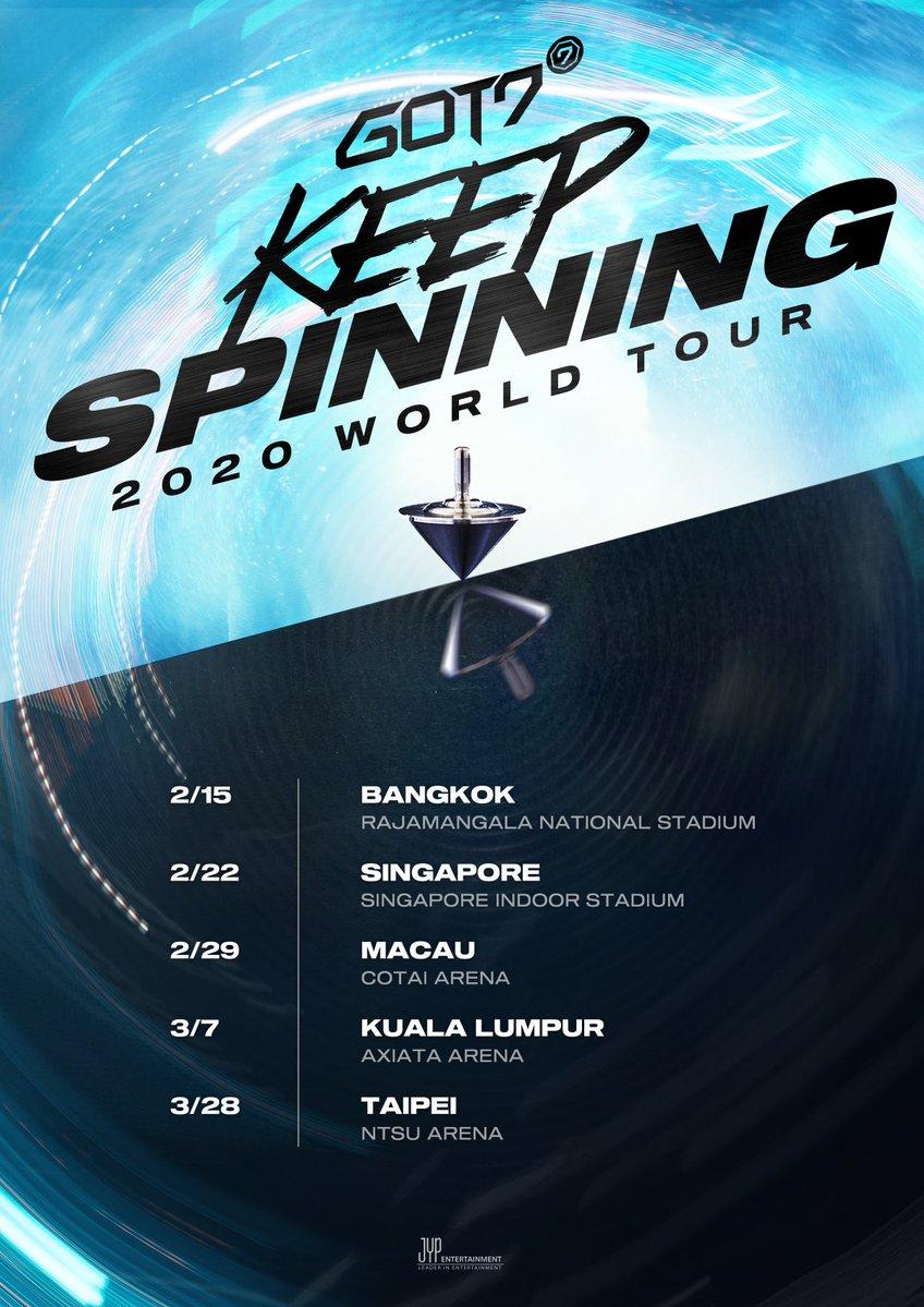 Bts World Tour 2020.Update Got7 Announces Additional Concert Dates For Keep
