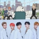 "Watch: MONSTA X Transforms Into Cartoons For Special Appearance On Emmy-Nominated Show ""We Bare Bears"""