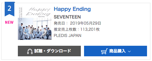 """Update: SEVENTEEN's Japanese Single """"Happy Ending"""" Rises To"""