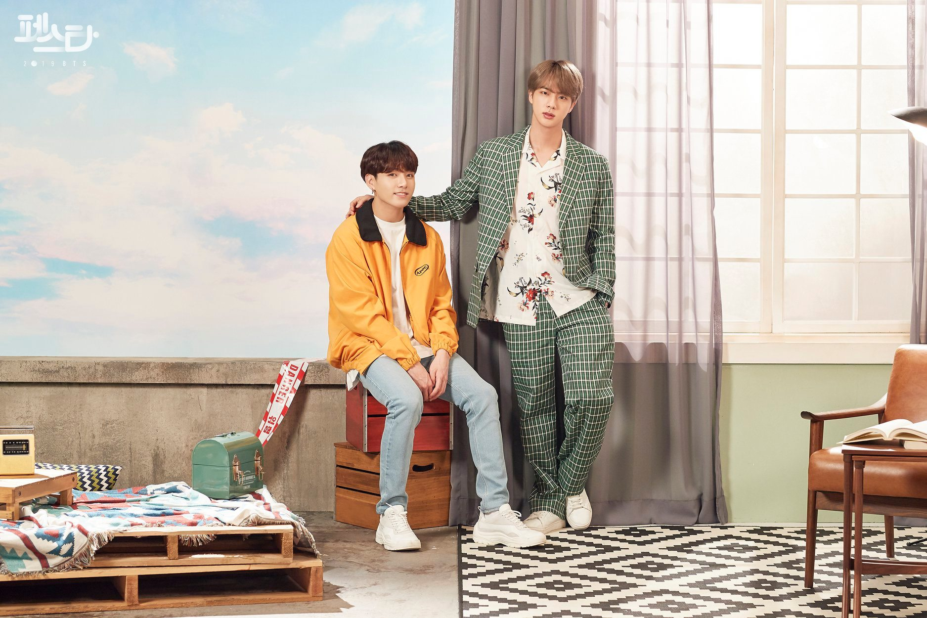 bts gets creative in gorgeous family portraits for 2019