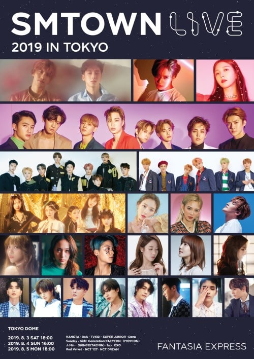 SMTOWN Live 2019 In Tokyo Confirms Some Members Of f(x), Super