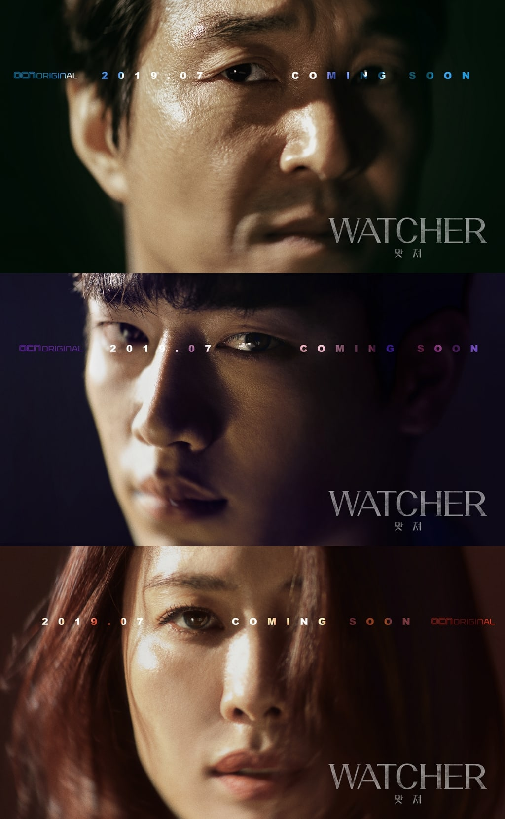 "OCN's ""Watcher"" Shares Intense Character Posters For Han Suk Kyu, Seo Kang Joon, And Kim Hyun Joo"
