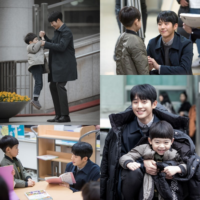 "[K-Drama]: Jung Hae In And Ha Yi Ahn Share Adorably Sweet Moments Behind The Scenes Of ""One Spring Night"""
