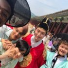 "EXO's Kai And Suho Meet ""Stranger Things"" Stars Caleb McLaughlin And Gaten Matarazzo In Korea"