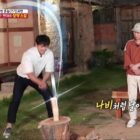 "Lee Seung Gi Shows Off Impressive Wood-Splitting Skills On ""Master In The House"""