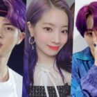 Idols Who Look Bewitching With Their Purple Hair