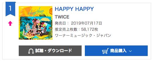 "Update: TWICE's ""Happy Happy"" Rises To No  1 On Oricon's"