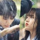 "Ong Seong Wu Makes Hearts Race As He Shields Kim Hyang Gi From The Rain In ""Moments Of 18"""