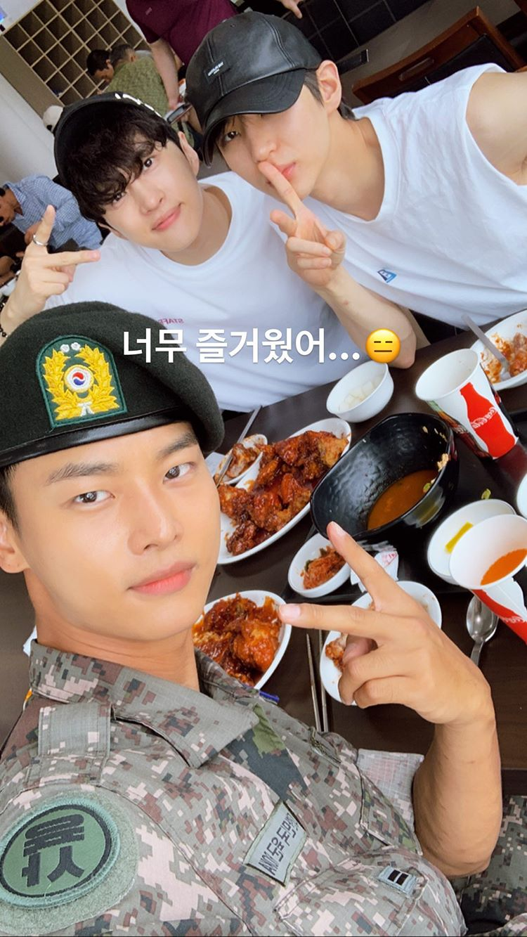 VIXX's Leo And Ken Visit N In The Military And Enjoy A Nice