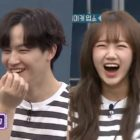 "Watch: GOT7's JB Dances With Weki Meki's Choi Yoojung To ""Hard Carry,"" Then Cracks Everyone Up With His Response To Jung Hyung Don's Teasing"