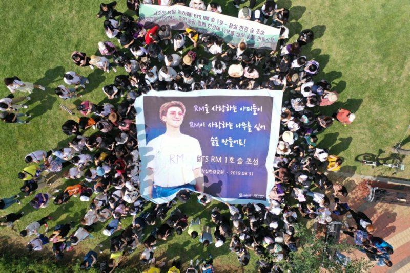 BTS RM Mendapatkan Hadiah Sebuah Hutan dari ARMY © Soompi