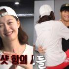 "Watch: ""Running Man"" Members Crack Up At Kim Jong Kook And Jun So Min's Hilarious Couple Dance"