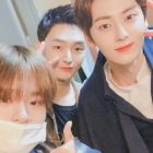 NU'EST's Minhyun Gets Cheered On By Lee Dae Hwi And Yoon Ji Sung At His 1st Musical