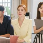 "Ji Chang Wook And Yoon Se Ah Look Serious When Won Jin Ah Runs Into Them In ""Melting Me Softly"""