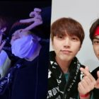 Ha Sung Woon, NU'EST's Minhyun, Super Junior's Leeteuk, And B1A4's Sandeul Have A Blast At BTS's Concert
