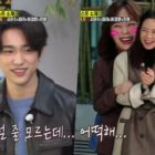 "GOT7's Jinyoung Turns Jun So Min Into A Shy Fangirl On ""Running Man"""