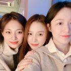 (G)I-DLE's Shuhua Celebrates Birthday With TWICE's Tzuyu And CLC's Elkie