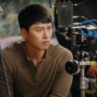 "Hyun Bin Is Burning With Passion Behind The Scenes Of ""Crash Landing On You"""