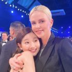 """Parasite"" Star Park So Dam Beams In Photos With Charlize Theron"