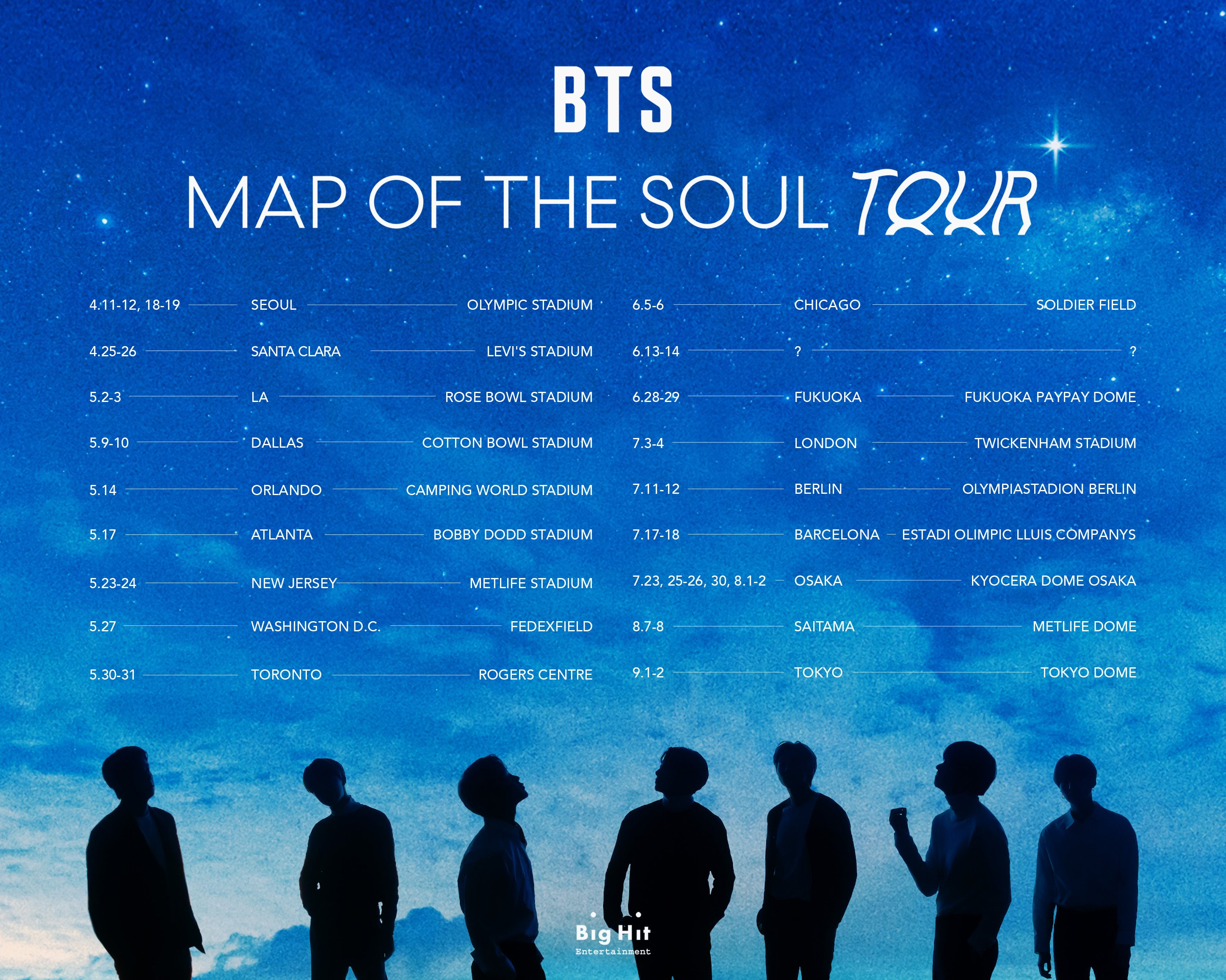 Jadwal Tour Map of The Soul