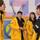 "Lee Kwang Soo And Kim Jong Kook Get Into A Savage Water Fight On ""Running Man"""
