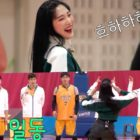 "Watch: Red Velvet's Joy Teaches ""Psycho"" Choreo + Body Rolls To Celebrity Basketball Team On ""Handsome Tigers"""