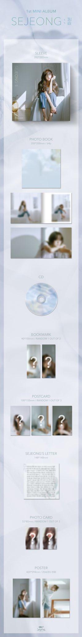 Kim Sejeong Album Packaging