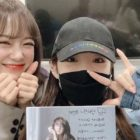 Chungha Supports gugudan's Kim Sejeong's Solo Album In Cute Photos Together