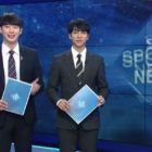 "Watch: Lee Seung Gi Makes Surprise Appearance On SBS's ""8 O'Clock News"" As A One-Day Announcer"