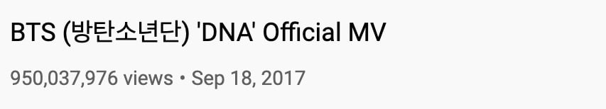 """bts's-""""dna""""-becomes-first-korean-boy-group-mv-to-surpass-950-million-views-on-youtube-2"""