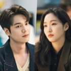 """The King: Eternal Monarch"" Unveils Sneak Peek Of Lee Min Ho + Kim Go Eun's Secretive Meeting In Library"