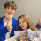 Jung Il Woo Cheers On Sandara Park At Her Musical + She Thanks Him For 12 Years Of Friendship