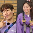 """Running Man"" Shares Sneak Peek Of Oh My Girl's Hyojung Bringing Out Kim Jong Kook's Inner Aegyo"