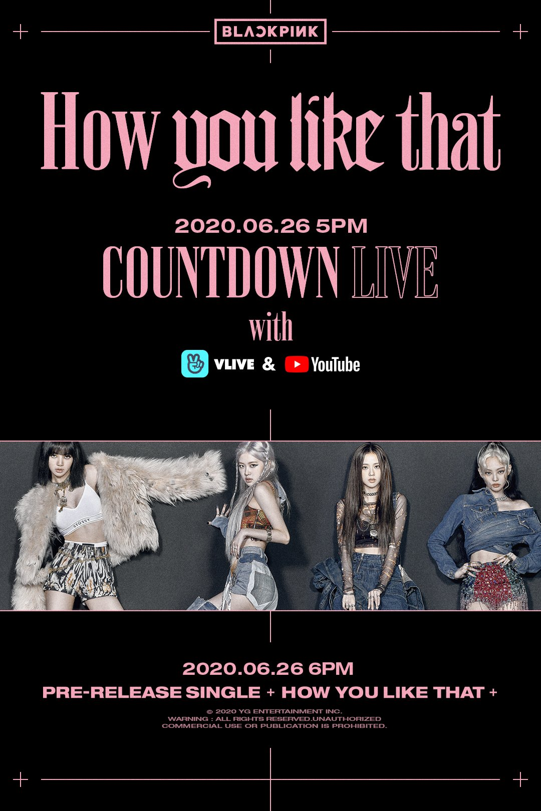 blackpink countdown live how you like that