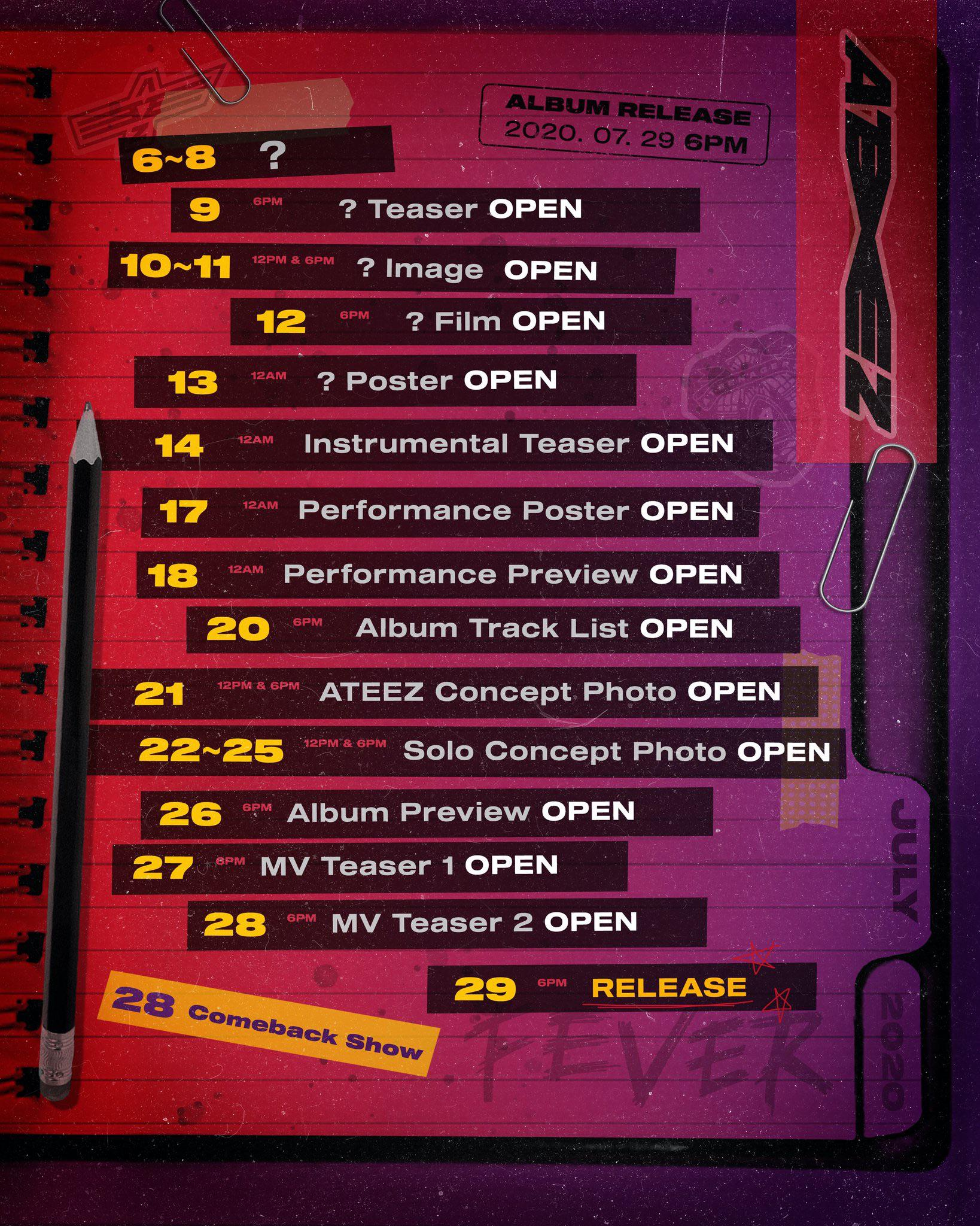 ATEEZ Schedule