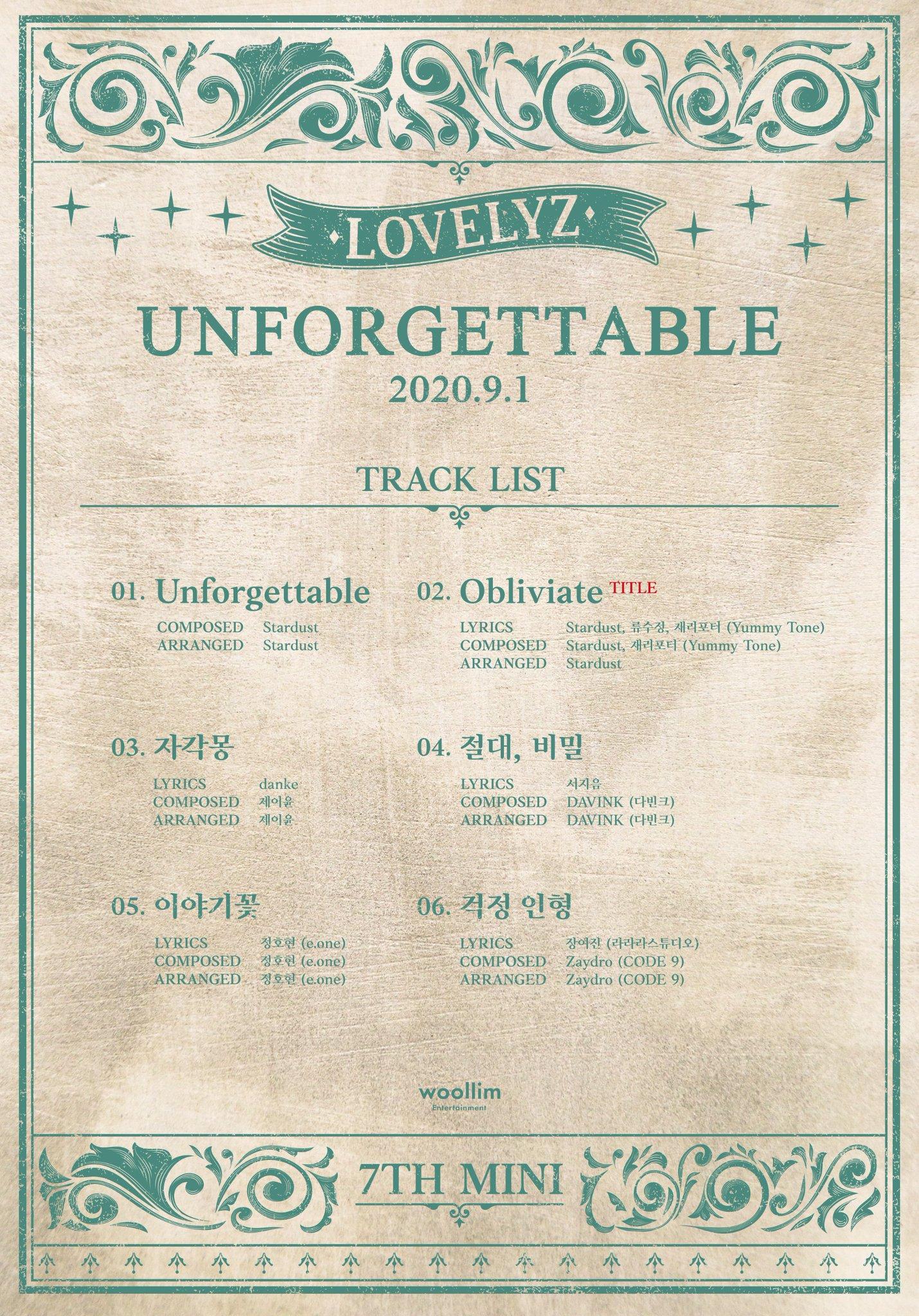 Lovelyz Track List