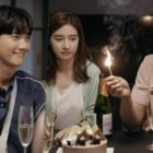 "Park Gun Il, Lee Na Eun, And Ji Hyun Woo Celebrate Over Cake In ""Lonely Enough To Love"""