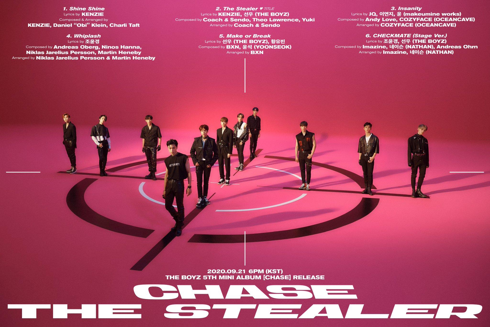 The Boyz Track List