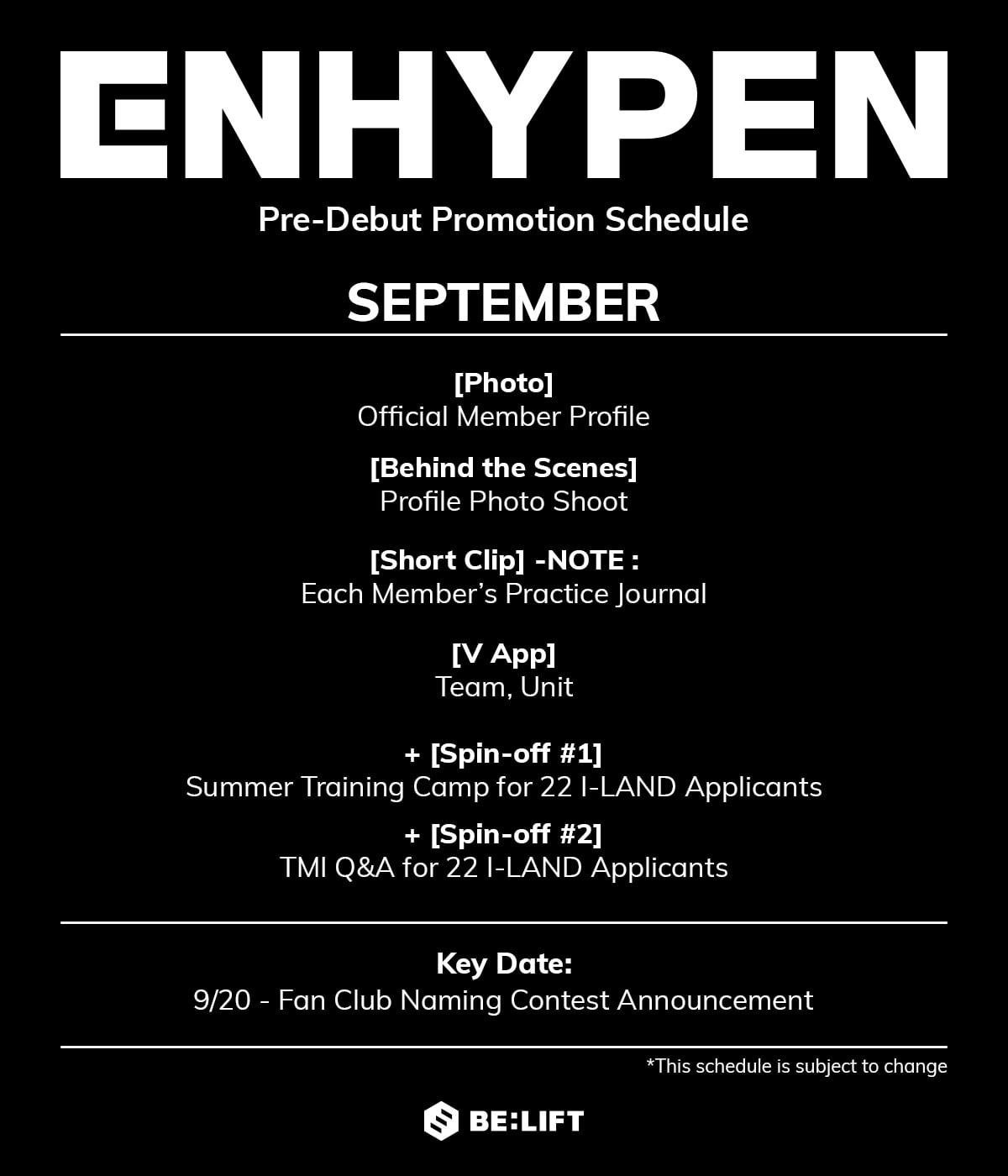 ENHYPEN Schedule