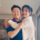 BTS's V Gives PSY A Big Hug In Photos