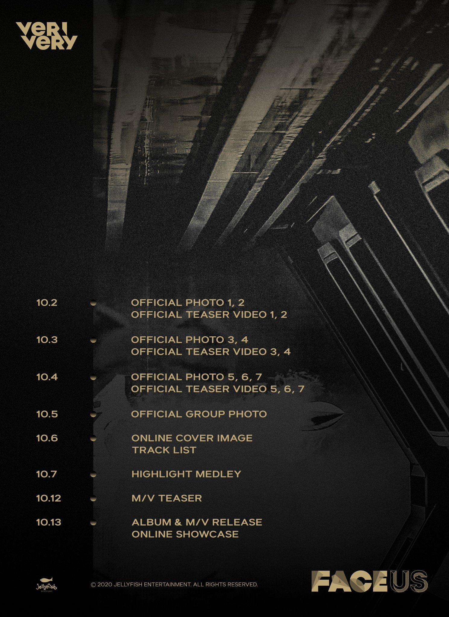 VERIVERY Teaser Schedule