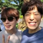 Shinhwa's Andy Visits Eric On The Set Of His Upcoming Spy Drama with Yoo In Na