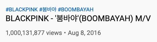 blackpink boombayah 1 billion