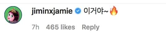 Jamie Instagram Comment