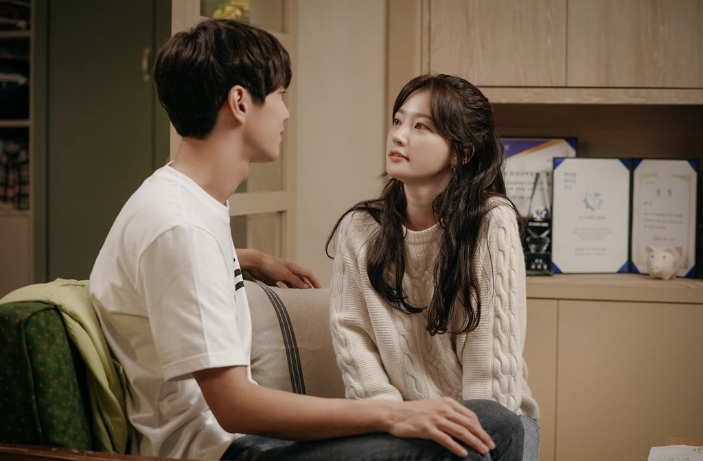 Song Ha Yoon and Lee Jun Young share a loving moment on the upcoming rom-com