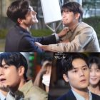 """Watch: Ong Seong Wu And Kim Dong Jun Have Fun Filming Fight Scene For """"More Than Friends"""""""