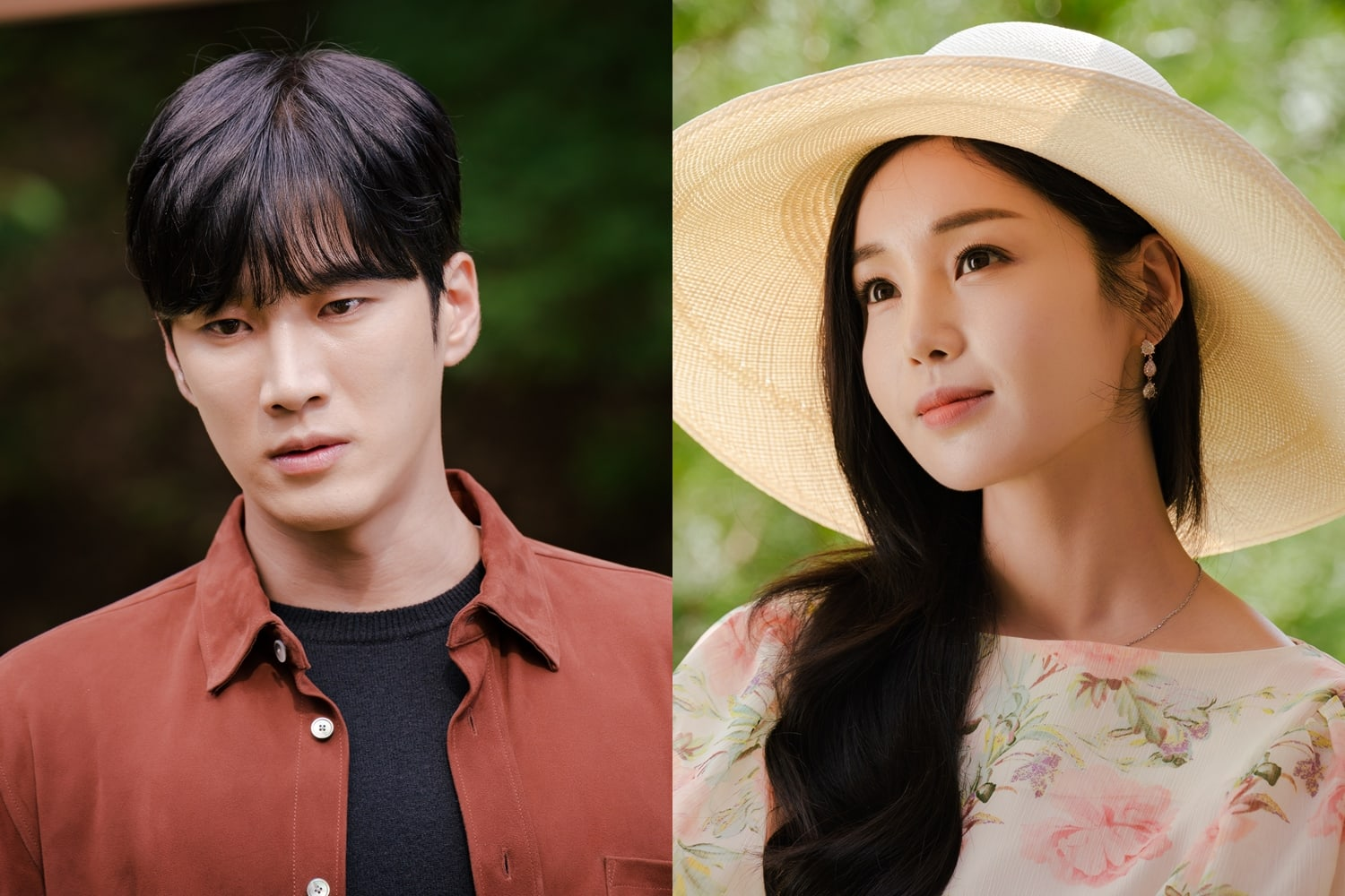 "Ahn Bo Hyun and Nam Gyu Ri face each other in ""Kairos"" with completely different expressions."