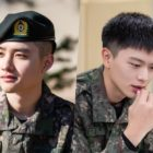 Military Reveals New Photos Of EXO's D.O. And BTOB's Yook Sungjae