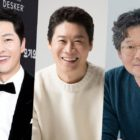 Song Joong Ki Cheers On Jin Sun Kyu And Yoo Jae Myung On Film Set With A Gift